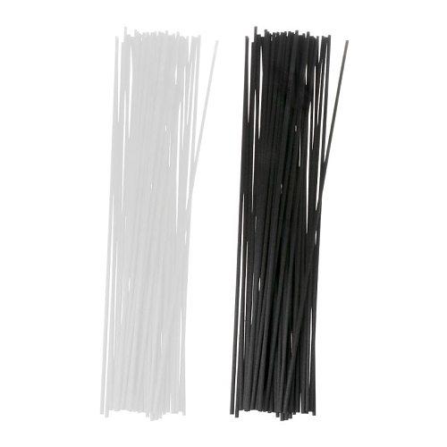 50Pcs 30cmx3mm Fiber Sticks Diffuser Aromatherapy Volatile Rod for Home Fragrance Diffuser Home Decoration G32C