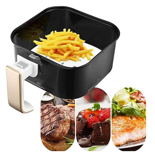 Baking Paper Air Fryer Liners Cookware 100pcs Disposable Papers Non-Stick 6-9inch Bamboo Steamer Liners Paper Steaming Papers