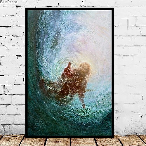 Jesus Christ The Hand Of God Canvas Poster And Prints Decorative Wall Art Pictures Painting For Living Room Home Decoration