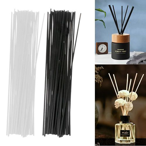 50Pcs 30cmx3mm Fiber Sticks Diffuser Aromatherapy Volatile Rod for Home Fragrance Diffuser Dropship