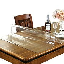 Transparent PVC table cloth frosted table top protective cover waterproof kitchen pattern oil table cloth glass soft cloth 1.0mm