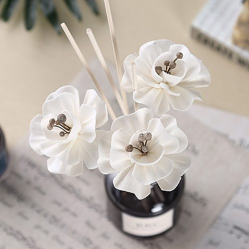 5/6/10/50pcs Flower Rattan Reed Diffuser Non-fire Replacement Refill Sticks Home Living Room Aromatic Incense Decor Ornaments