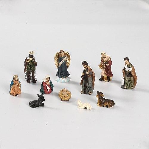 Easter Decor Elegant Profile Nativity Set, Includes Holy Family Resin Decorative Figures Home Decor статуэтки для интерьера