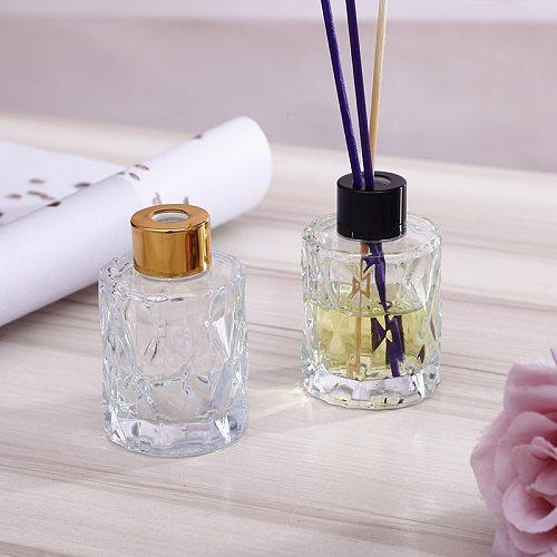 5PCS/Set 60ml Home Fragrance Essentia Oil Bottle Air Freshener Decorative Glass Bottle Scented Reed Diffuser for Gift 8*5*3CM