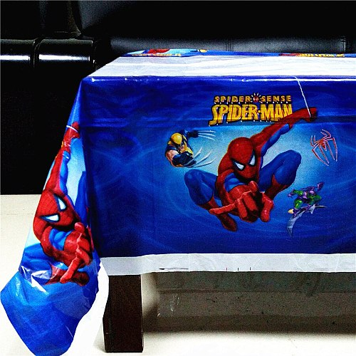 Spiderman Tablecloth Spider man Disposable Table Cloth Kids Birthday Party Supplies Plastic Table Cover Spiderman Party Supplies