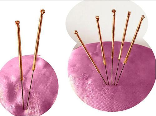 100 pcs disposable sterile copper handle acupuncture needles flat tip CBR knife needles 0.35/40/50/60mm