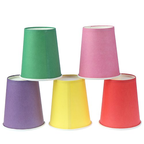 10pcs Color Disposable Cups Handmade Paper Cups Kindergarten DIY Handmade Materials Household Coffee Cup Kitchen Accessories