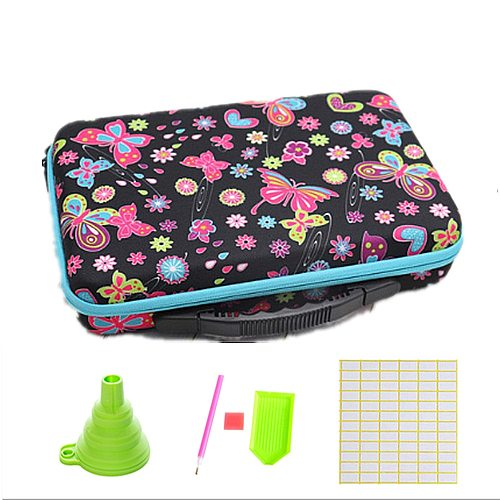 60 Bottles Diamond Painting Cross Stitch Accessories Tool Box Container Diamond Storage Bag Case 5D Embroidery Mosaic Kits