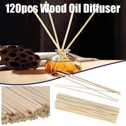 120pcs 20cm Reed Diffuser Replacement Stick Diy Handmade Home Decor Extra Thick Rattan Reed Oil Diffuser Refill Sticks #T1P