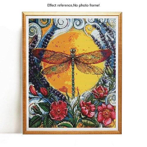 Evershine Full Square Diamond Painting Kit Animals Diamond Embroidery Dragonfly 5D Cross Stitch Rhinestones Mosaic Home Decor