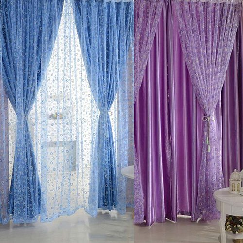 HOT SALES!!!New Arrival 1 Pc Voile Curtain Bedroom Window Door Divider Sheer Drape Home Hotel Decoration Wholesale Dropshipping