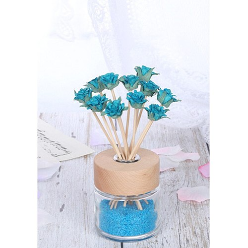 5pcs Artificial Flower Wavy Rattan Reed Fragrance Diffuser Replacement Refill Sticks Air Freshener Room Perfume Diffuser Sticks