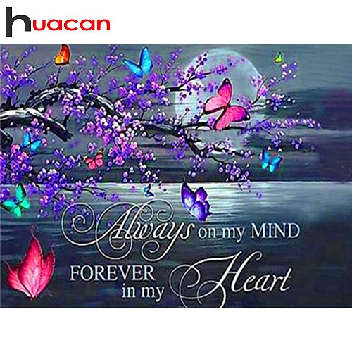 Huacan Full Square Diamond Painting Art Kits Animal Diamond Embroidery Cross Stitch Butterfly 5D DIY Mosaic Handmade Gift