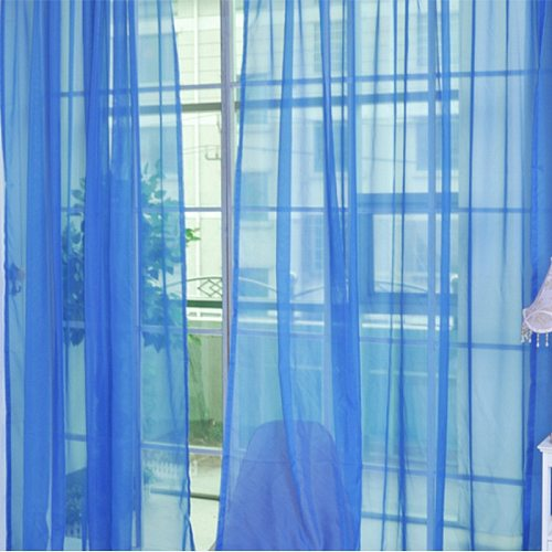Bedroom Cheap Ready Made Finished Organza Child Window Cortina Curtain for Living Room wedding Home Decor Colored curtains