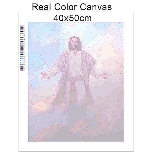 HUACAN Oil Painting By Numbers Jesus Drawing On Canvas Hand Painted Paintings Portrait Art Pictures By Number Kits Home Decor