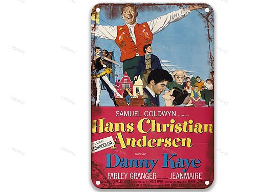 Hans Christian Andersen (1952) Modern Metal Tin Signs Movies Decore for Porch Decoration 8x12 Inches