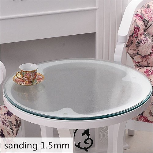 Soft Glass Table Cover Round Table Cloth Oil Glass Tablecloth Clear Waterproof Tablecothes Plastic Table Cloth Pvc Tablecloth