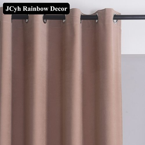 Modern Velvet Blackout Curtains For Living Room Solid Color Window Curtains For The Bedroom Home Decoration Blinds Drapes Fabric