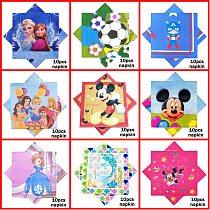 10pcs Mickey Minnie Mouse Little Mermaid Frozen Sofia Princess Kid Boy Girl Birthday Party Supplies Disposable Napkin Wholesale