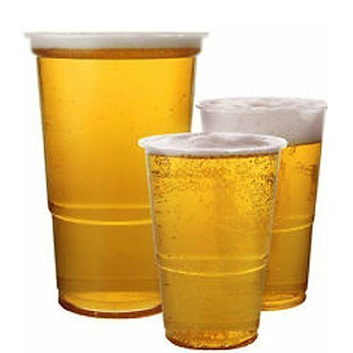 MONGKA Clear Strong Plastic Pink Half Pint Tumblers Disposable Party Beer Classes Cups  Clear