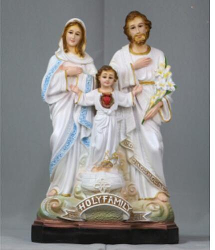 highly 40CM Three saints bless Jesus, Mary  Joseph decorate virgin cross Christian Catholic holy things culpture crafts statue