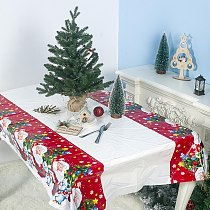 Christmas Decoration Waterproof Tablecloth New Year Dining Table Decorations For Home Rectangular Table Covers 180*110cm 19NOV25