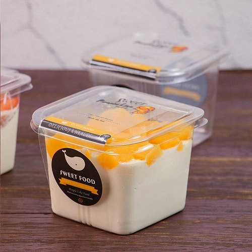 1600pcs/lot Disposable Fruit Box Cake Box DIY Mango Mousse Cake Packing Box Take-out Food Container Baking Accessories