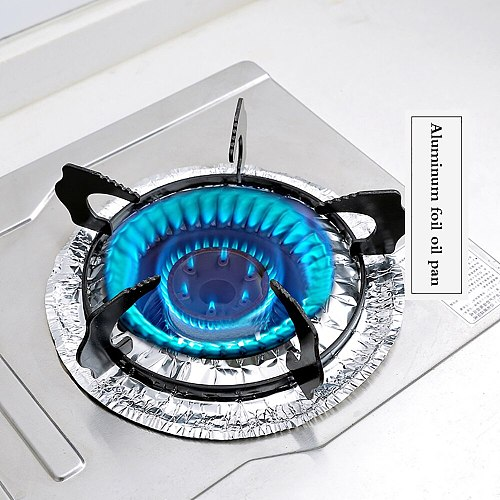 Electric Stove Covers Electric Stove Bib Liners Disposable Aluminum Foil Round Cover Liners  Clean  For Kitchen Cookware