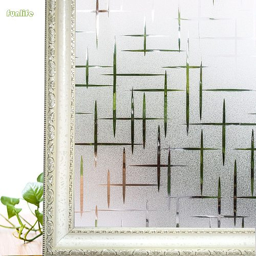 Frosted Static Cling Windows Film Decorative Privacy Glass Film Opaque for Hotel,Home Bedroom Vinyl Window Stickers