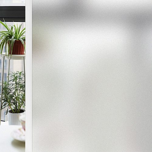Privacy No Glue Self Adhesive Window Film Frosted Static Heat Transfer Vinyl Film On The Window Stickers Bathroom Cabinet Glass