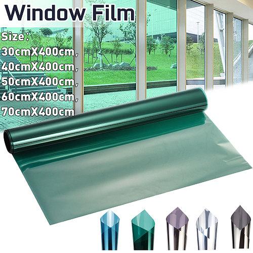 30/40/50/60/70x400CM One Way Mirror Window Film Insulation Solar Tint Window Stickers UV Reflective Privacy Decorative Films