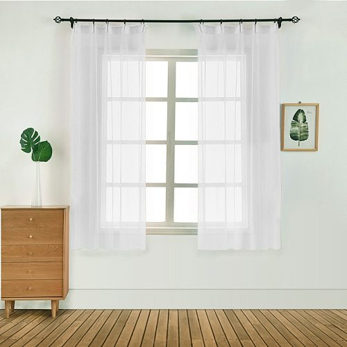 1PC 100x130 Bedroom Modern Window Tulle Curtain Panel Voile Curtain Home Textile High Quality Decoration For Your House