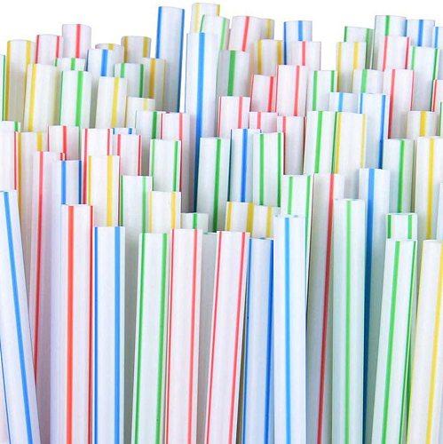 300pcs Plastic Disposable Straws For Parties/Bar/Beverage Shops/Home Straws paille en plastique colourful Restaurant Straws