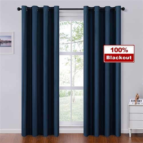 Topfinel Solid Blackout Curtains For Bedroom Living Room Window Treatment Blinds Decoration Modern Thicken Finished Drapes