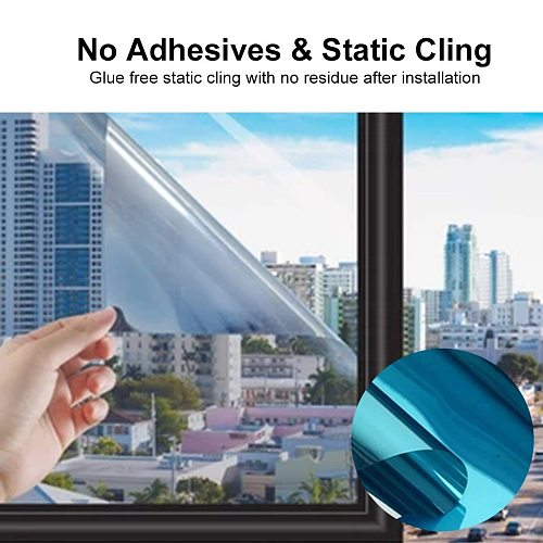 Ultra Transparent Sunscreen Film Vinyl Self-adhesive One Way Mirror Uv-proof Drop-shipping Daytime Private Glass Sticker #T2P