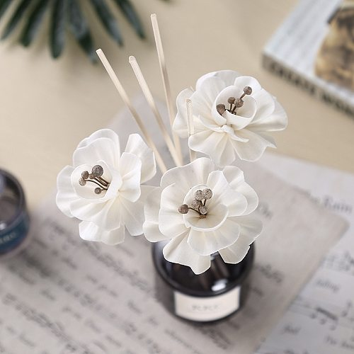 5PCS Flower Shaped No Fire Aroma Diffuser Sticks Household Bedroom Aroma Diffuser Accessories Reed Rattan Stick