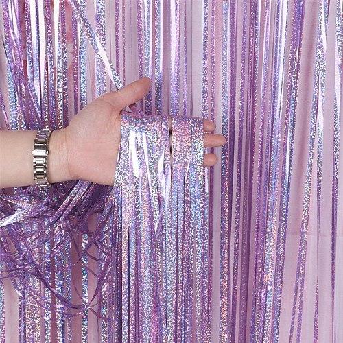 Party photo background curtain glitter gold foil metal foil striped foil curtain birthday wedding decoration rain silk curtain