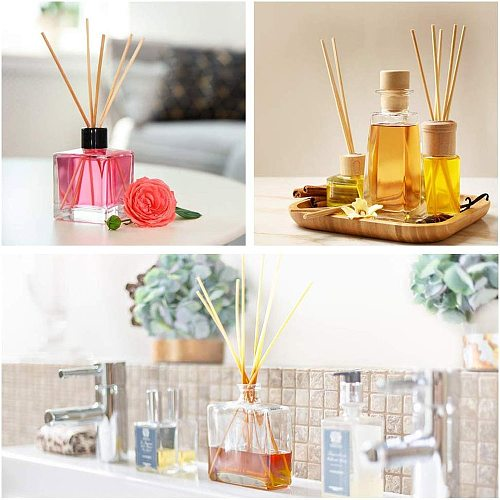 Set of 50 Reed Diffuser Sticks - Wood Rattan-Reed Sticks -Diffuser Glass Bottles-Diffuser Refills- Spa-Aromatherapy(8  20cm)