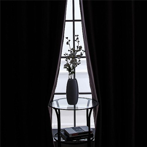 Cream Blackout Curtains For Bedroom Living Room Window Treatment Blinds Decoration High Shading Solid Color Kitchen Curtains