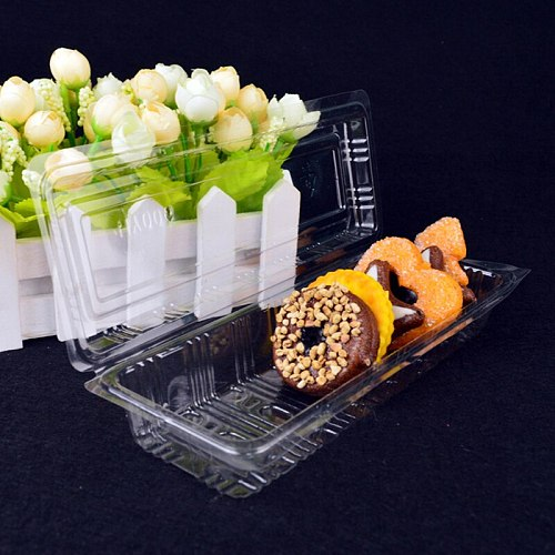 Fast Food Containers Food Wrapping Bowl Convenient Kitchen Utensils Transparent Snacks Packing Boxes Restaurant PP Take-Out Box