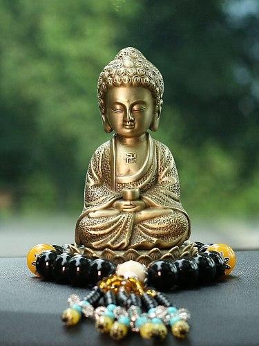 Pure Copper Vairocana Car Interior Design Accessories Decoration Zen Little Monk Dashboard Car Buddha Statue Safe in Car