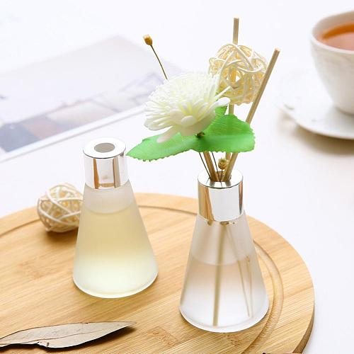 50ml Glass Bottles Reed Diffuser SticksEssential OilAirFreshers Flameless Aromatherapy Home Air Freshener Perfume Set