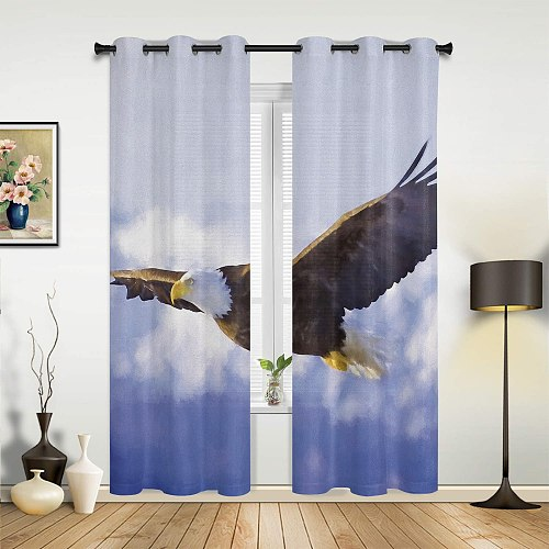 High EndNew Curtains Flying Eagle Screens For Bedroom Living Room Kitchen Study Decoration Valance Window Curtains