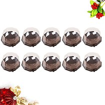 50PCS Disposable Diamond Shape Cake Boxes Food Container Mooncake Container Mousse Packaging Holder with Lid