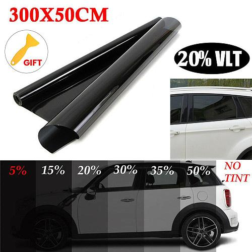 Car Glass Insulation film Non-reflective dyed film Uncut Roll Window Tint Film 20% VLT 10ft Feet Car Home Glass Solar Protection