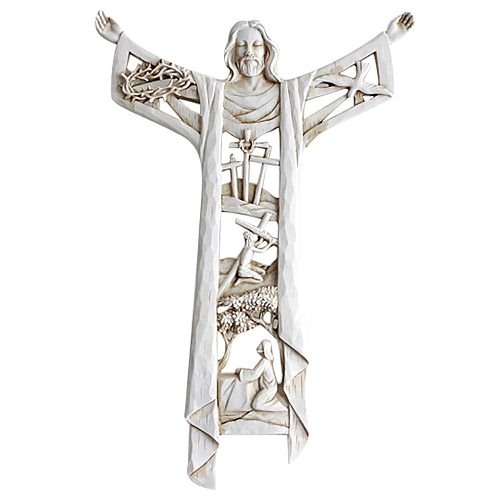 A Risen Christ Wall Cross & Last Supper Wall Cross Christian Wall Deor Holy Statues Ornament Pendant Figurines Miniature