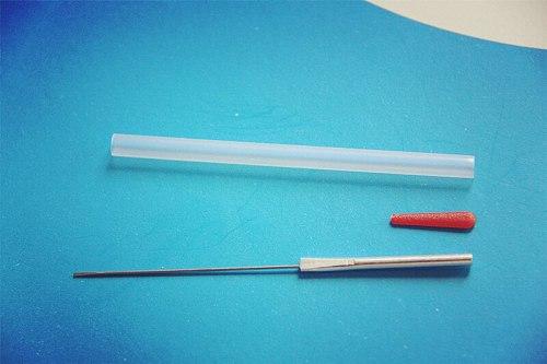 100 pcs EACU disposable aucpuncture edge needle with tube aluminum handle knife needle beauty massage needle SZ