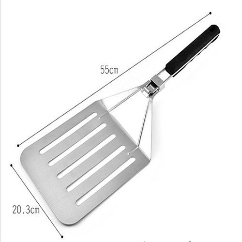 Pizza Peel Shovel Foldable Aluminum Cake Shovel Square With PP Handle Silver Cheese Cutter Pizza Peel Bakeware Cookware Tools