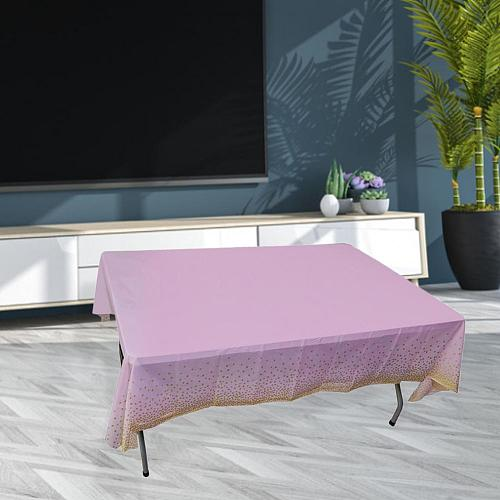 PE Disposable Solid Color Tablecloth Birthday Party Wedding Christmas Table Cover Wipe Covers Rectangle Desk Cloth Decor
