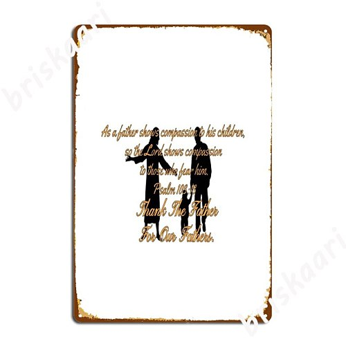 Fathers Day Christian Metal Signs Wall Plaque Design Home pub Tin sign Posters
